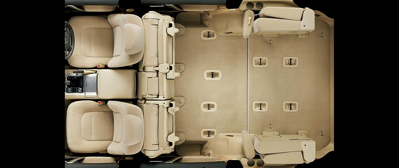 2020年フルモデルチェンジ予想ランドクルーザー300系参考現行車内装画像‐3